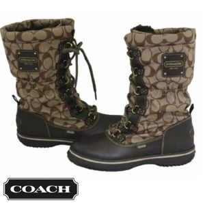 Shaine Coach All Weather Signature fabric Boot
